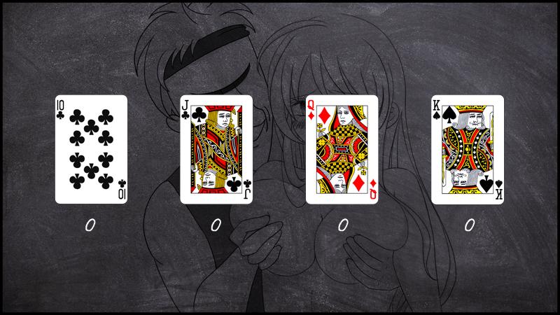 10・J・Q・Kのカードの数え方