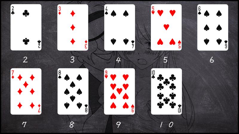 2から10までのカードの数え方
