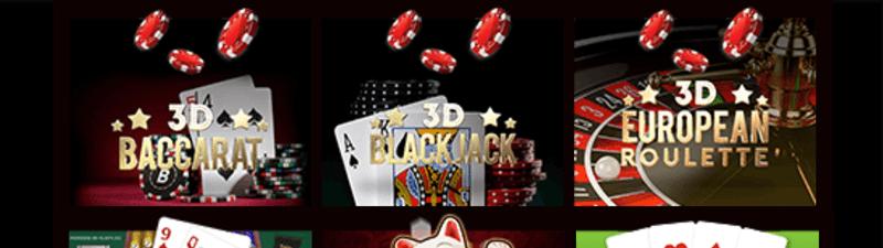 ライブカジノハウスのテーブルゲーム