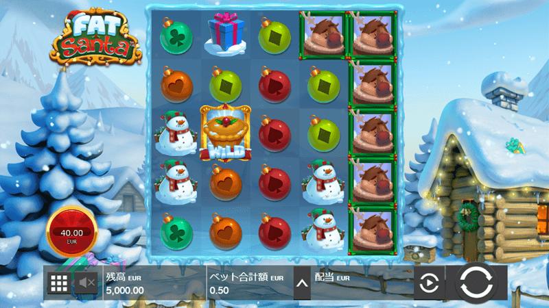 ファットサンタのゲーム画面