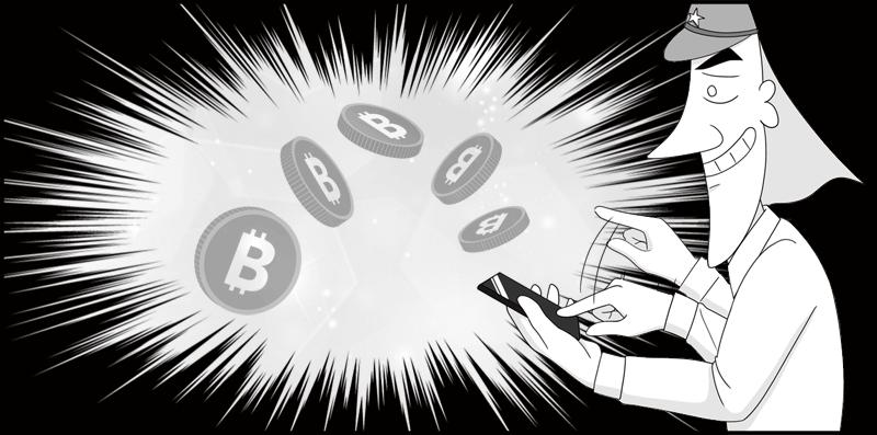 フォーセットでビットコインを集める鈴木二等兵