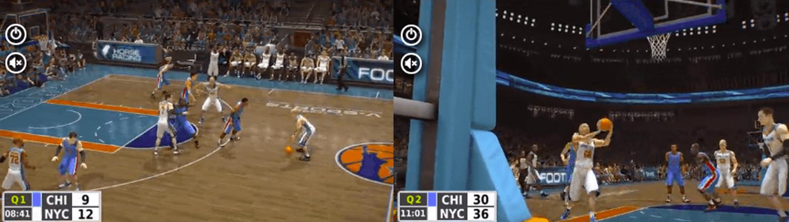バーチャルスポーツのバスケットボール