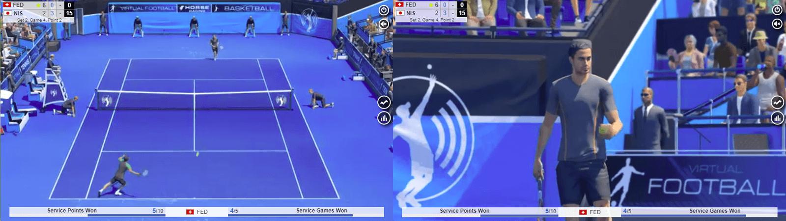 バーチャルスポーツのテニス